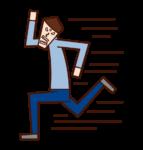 Illustration of a desperate person (man)