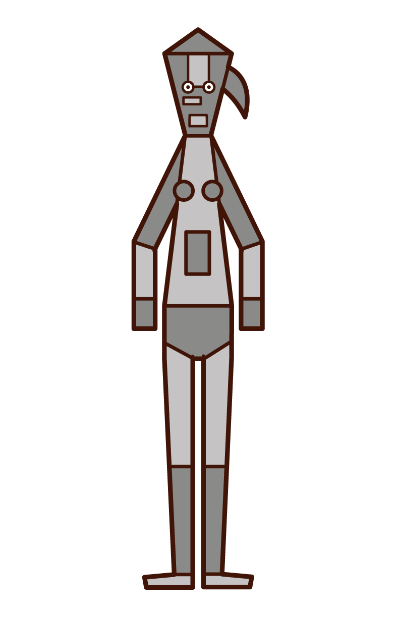 機器人(女性)插圖