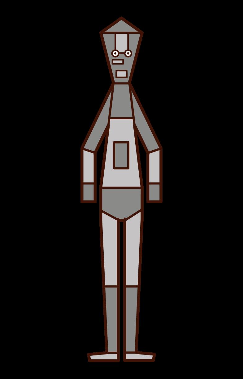 機器人(男性)插圖
