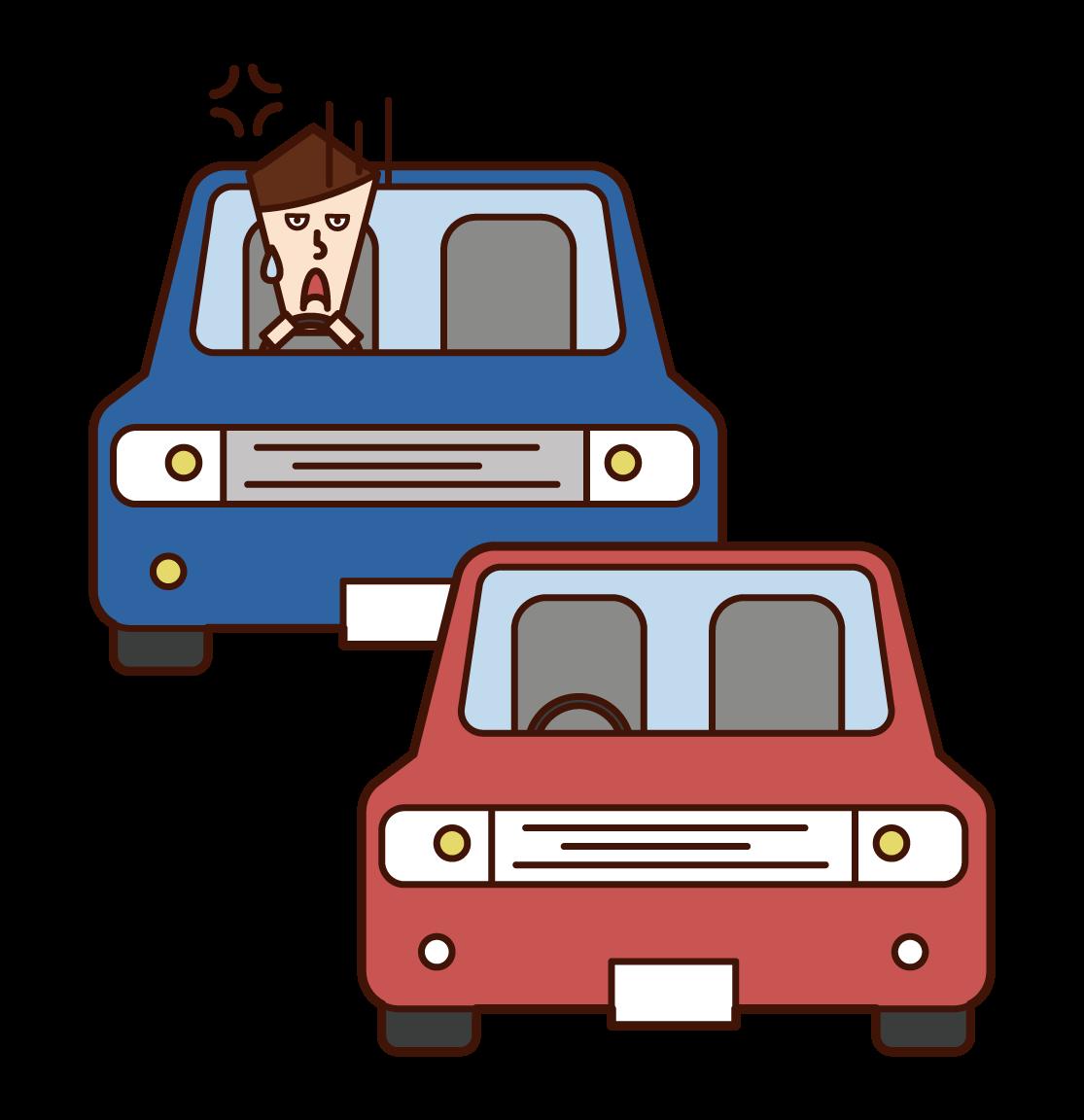 불법 및 쓰레기 주차의 그림