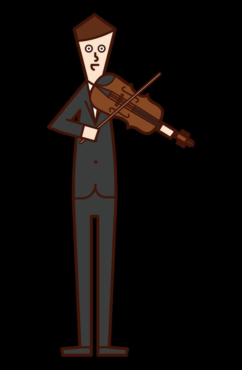 바이올리니스트 바이올리니스트 (남성) 일러스트