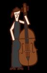 협주곡 연주자(여성) 일러스트
