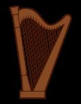 ハープのイラスト