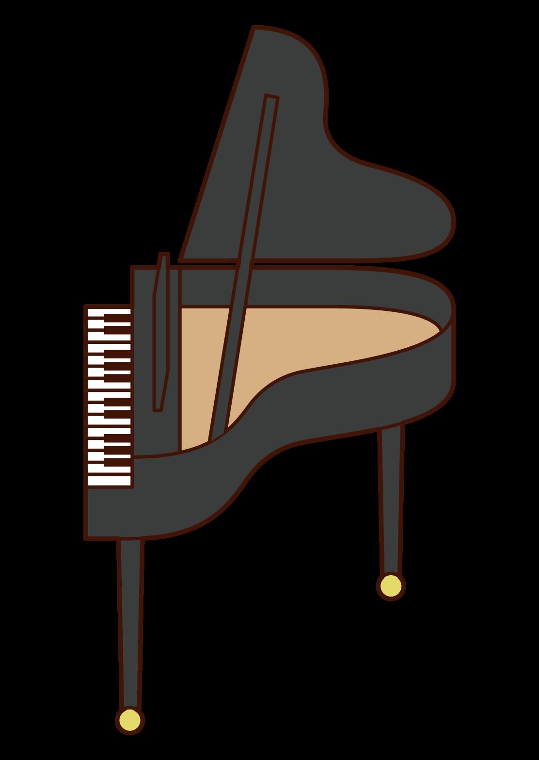 피아노 일러스트레이션