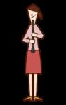 클라리넷을 연주하는 사람 (여성)의 그림