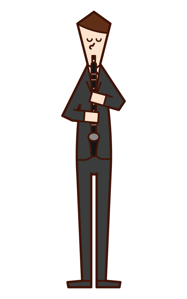알토 클라리넷을 연주하는 사람 (남성)의 그림