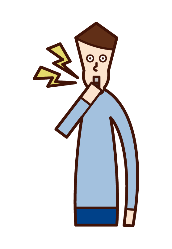 Illustration of a whistle blower (male)