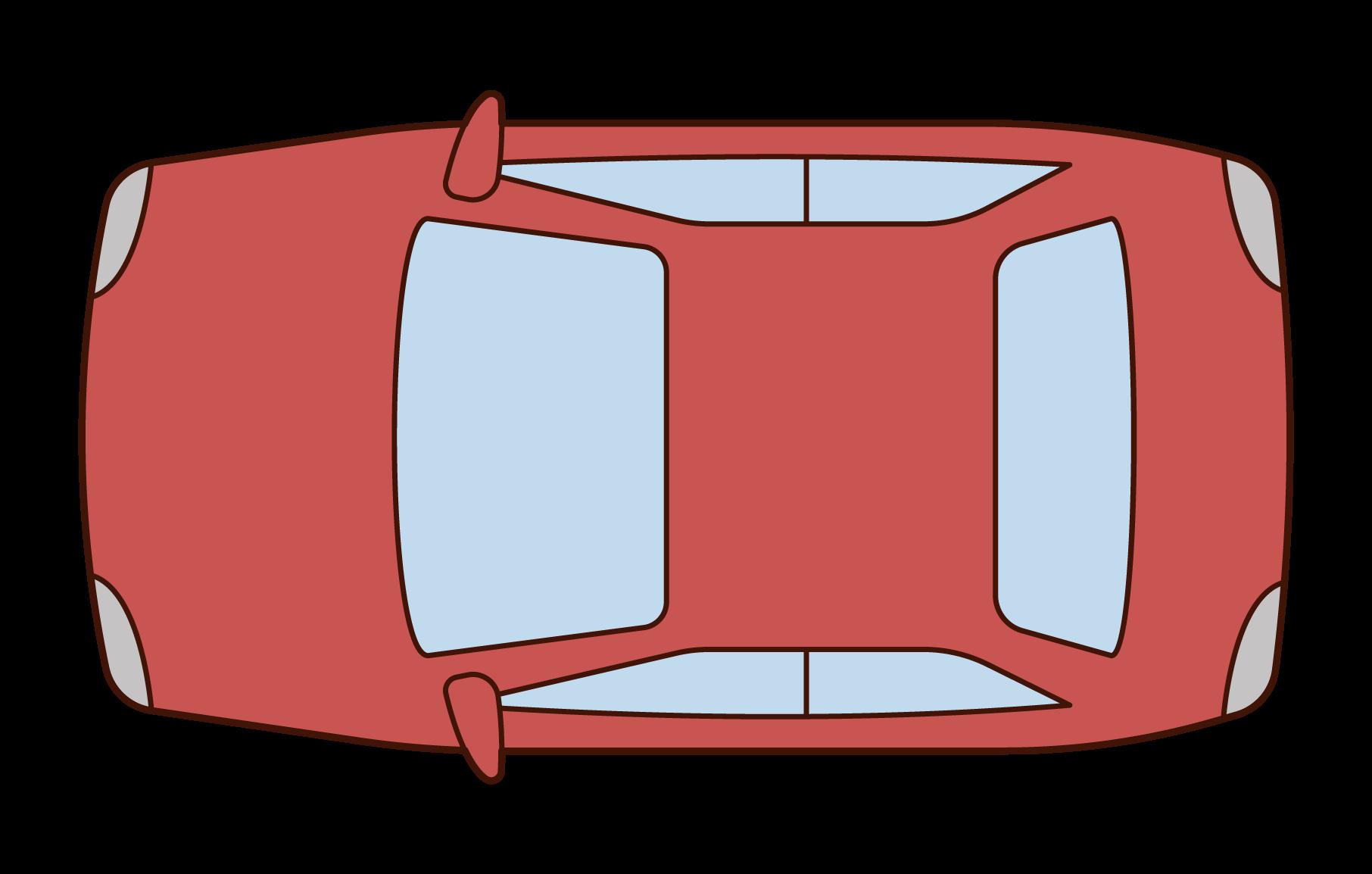 上から見た自動車のイラスト