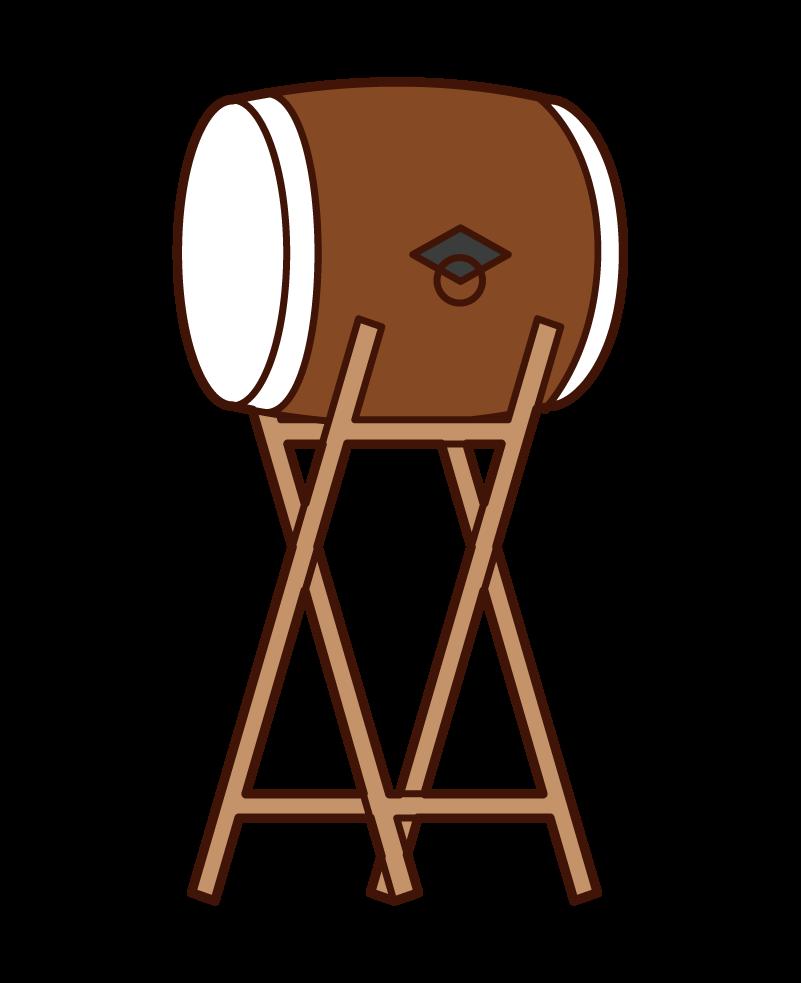 Wadaiko Illustration