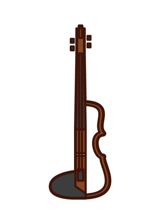 Electric Violin Illustration