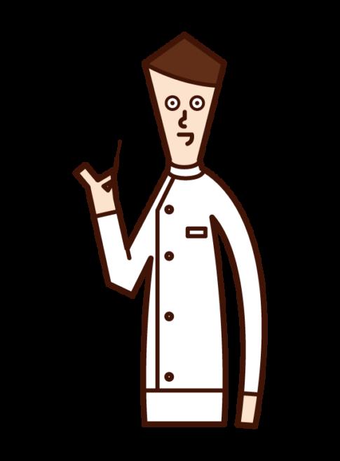 침술사 (남성)의 그림