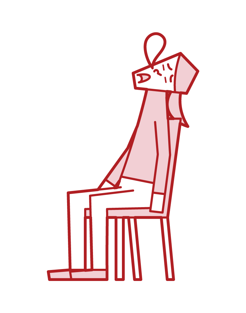 Illustration of a woman sleeping in a chair