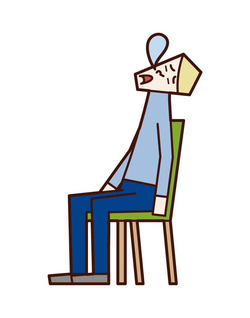 Illustration of a man sleeping in a chair