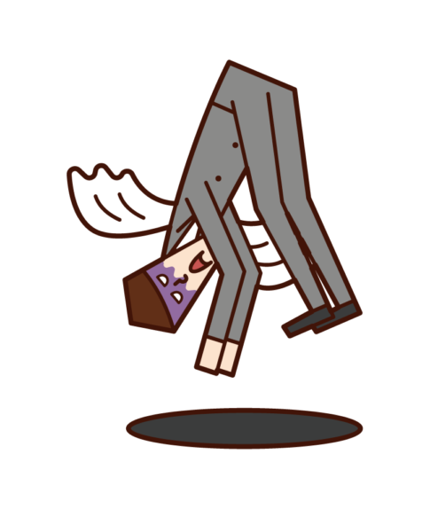 過度勞累和死亡的人(男性)的插圖