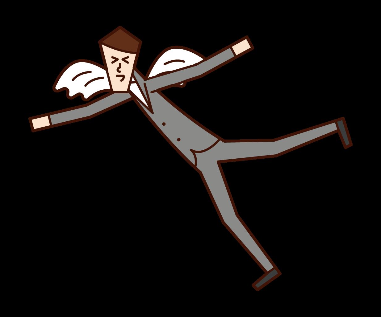 快樂和拍打的人(男性)的插圖