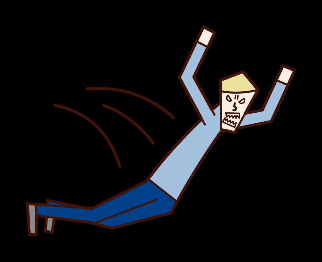 跳人(男性)的插圖