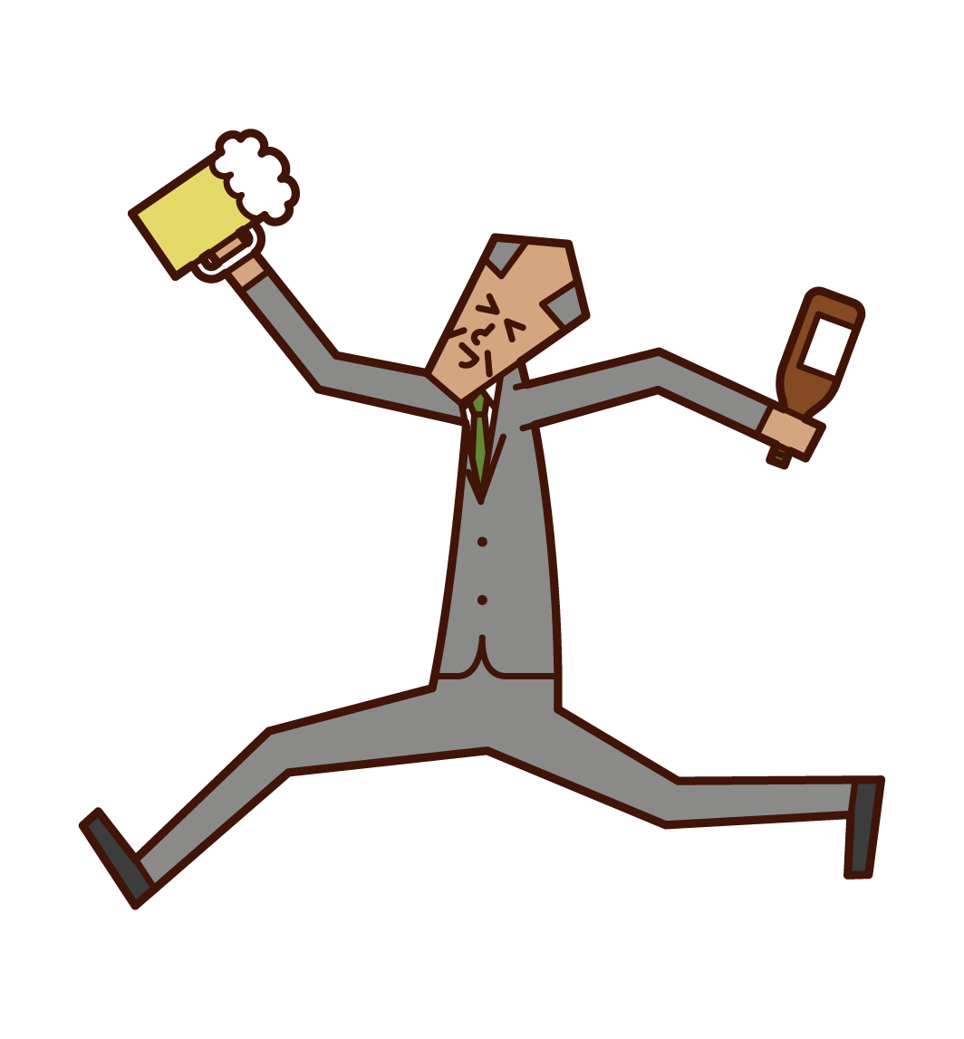 술을 좋아하는 사람 (남성)의 그림
