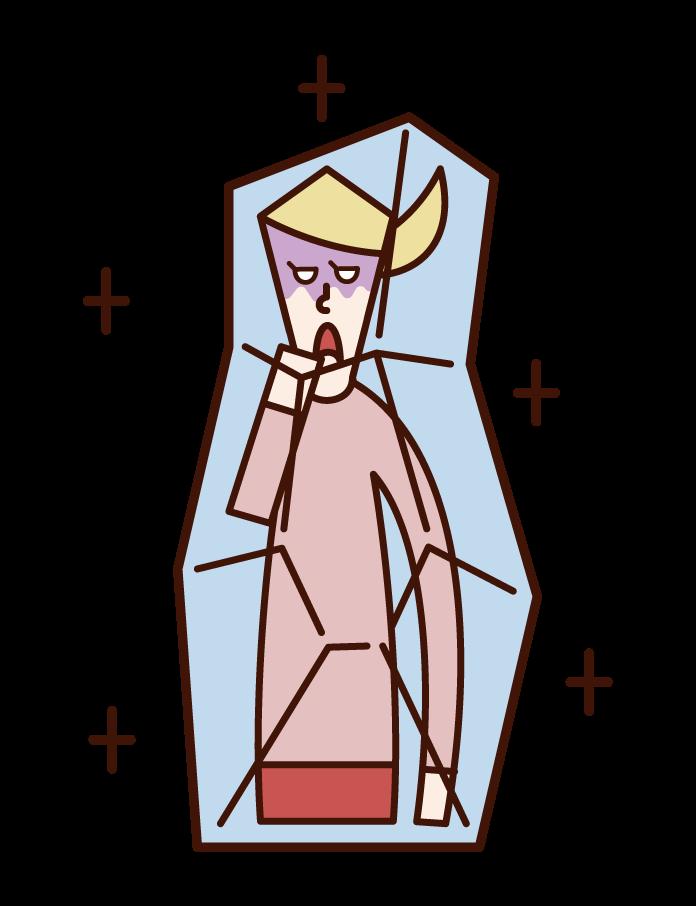 冰凍的人(女性)的插圖