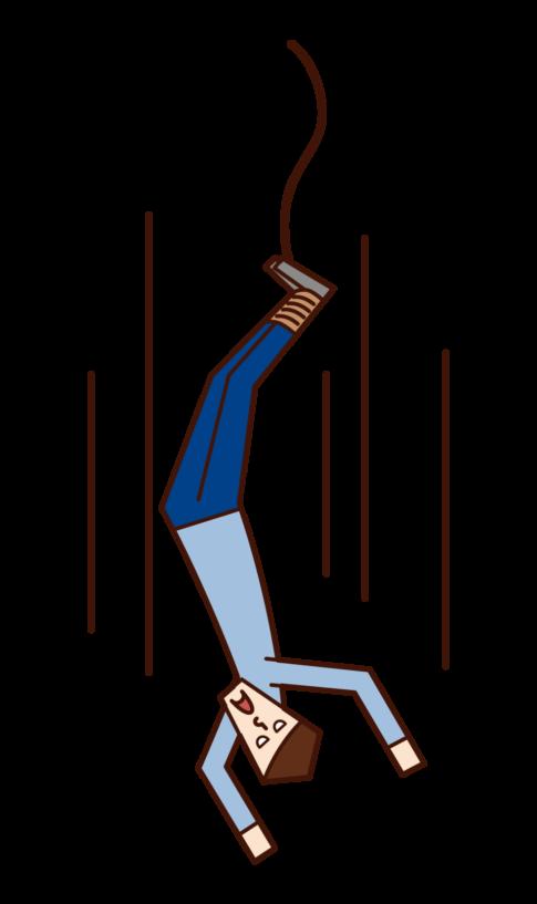 번지 점프 (남성)의 그림