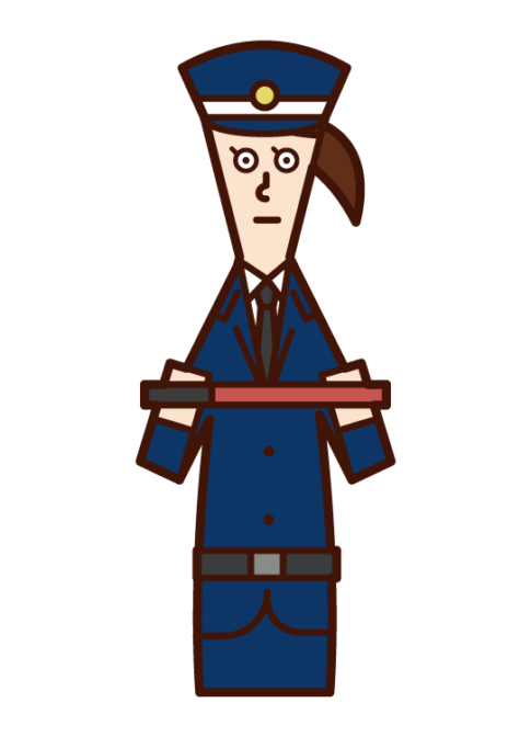 Illustration of a security guard (female)