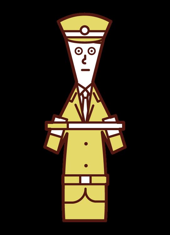 警備員(男性)のイラスト