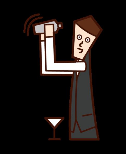 Illustration of bartender (male)