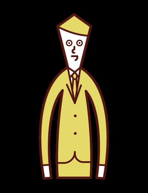 上半身(男性)的插圖
