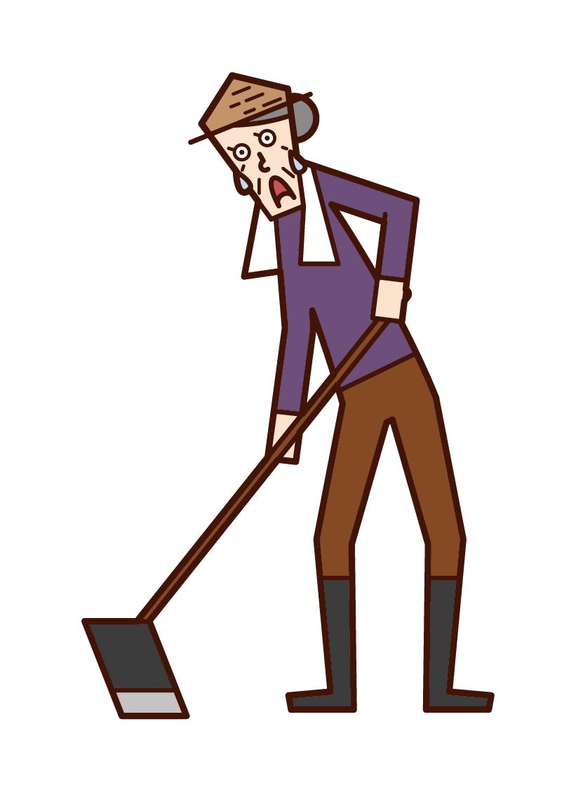 犁地的人的插圖