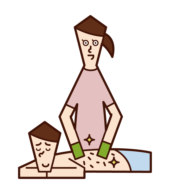 Illustration of a man who has him scalysnx
