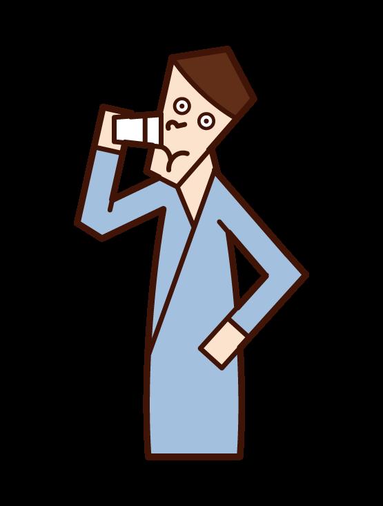 마시는 사람 (남성)의 그림