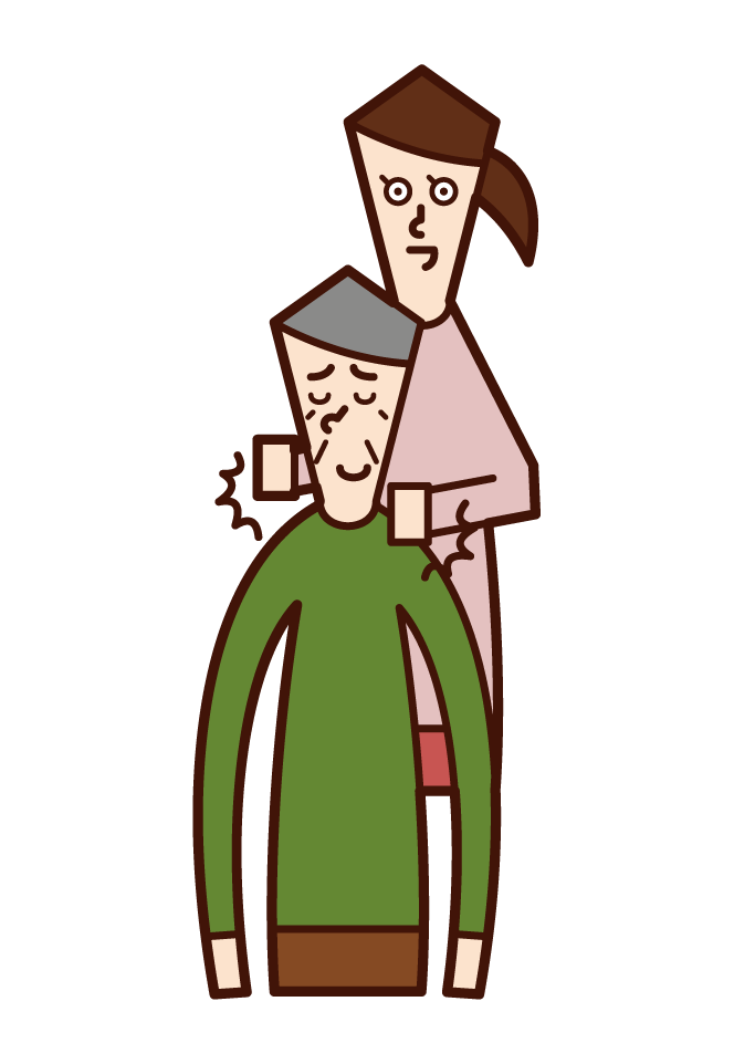 Illustration of a woman tapping her on the shoulder