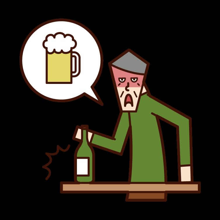 酒癮不好的人的插圖