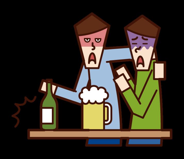 酒精騷擾(男性)插圖