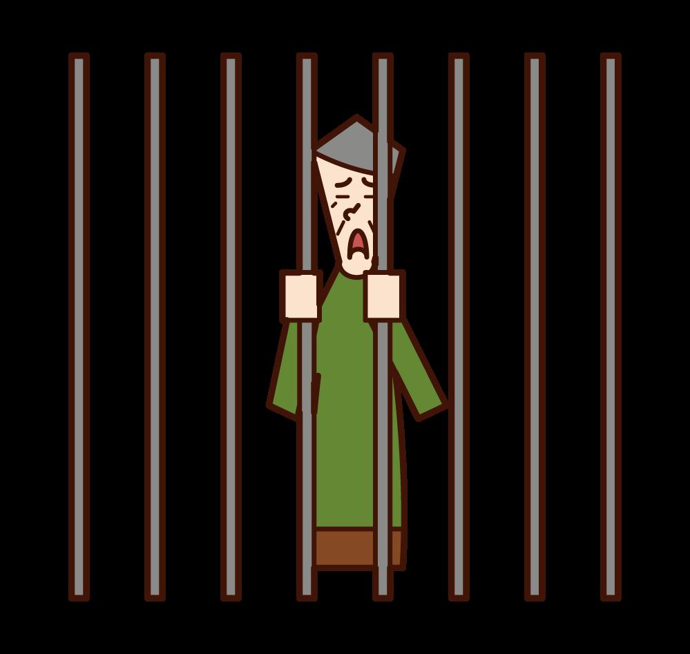 감옥에 갇힌 사람들의 그림