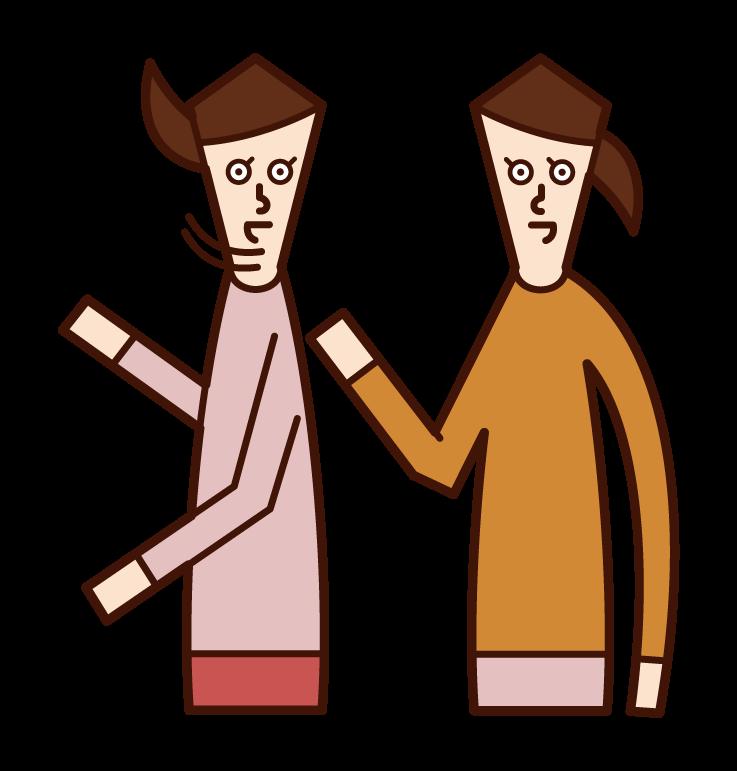 말하는 사람 (여성)의 그림