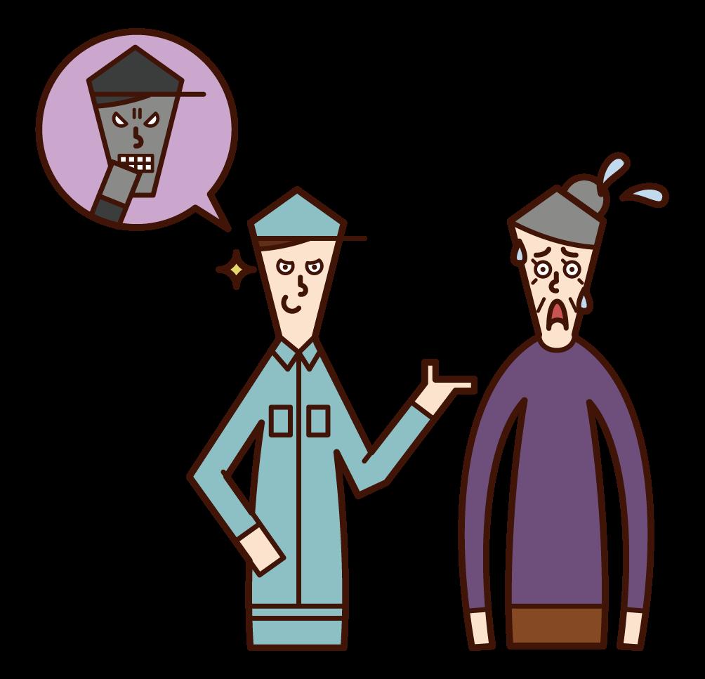 要求承包商簽訂不公平合同的人(祖母)的插圖