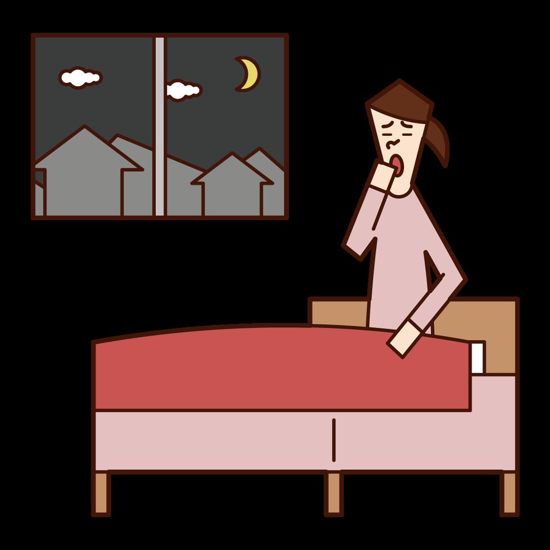 Illustration of a woman who sleeps