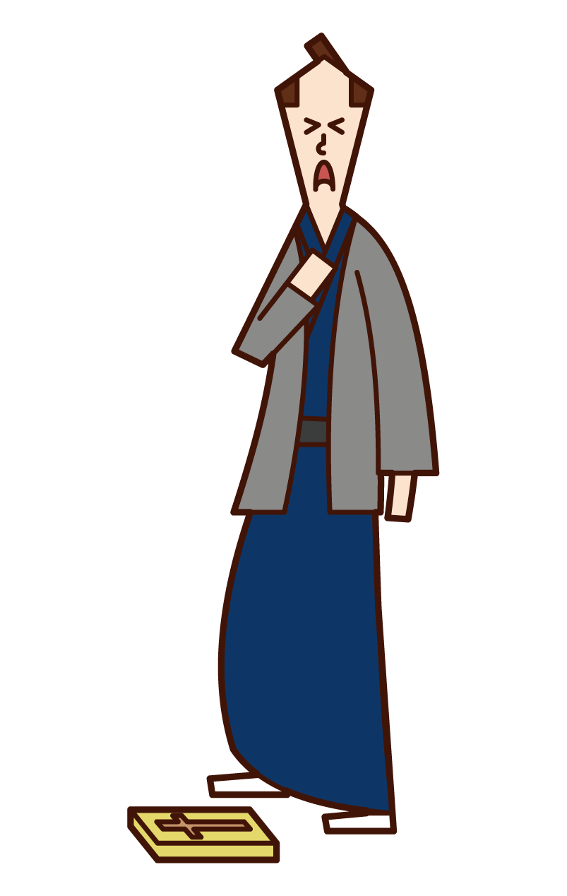 Illustration of a man treading