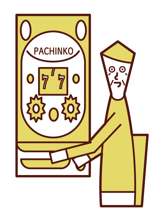 享受帕欽科賭博的人(祖父)的插圖