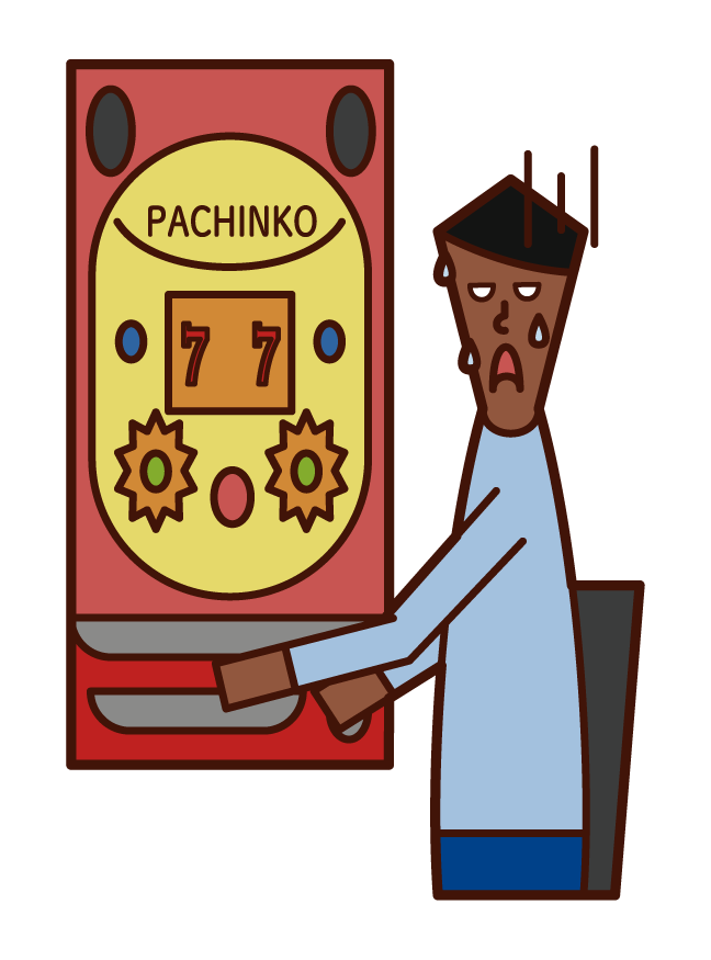 파칭코 도박 패자 (남성)의 그림