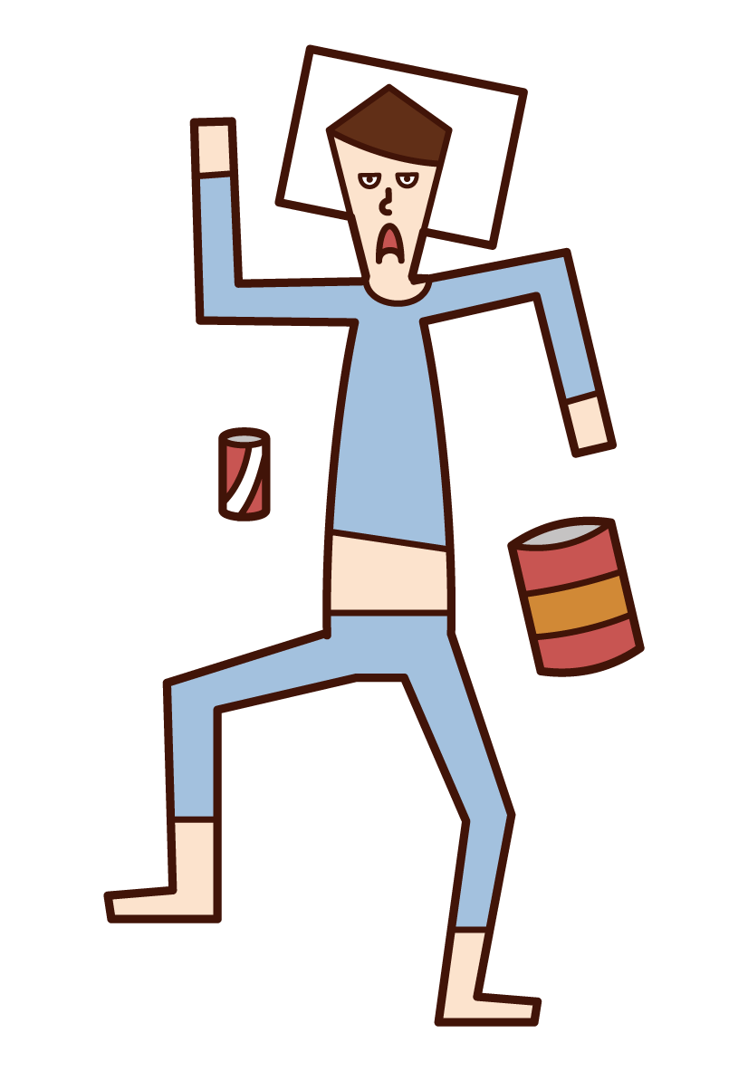 Illustration of a man paying a fine