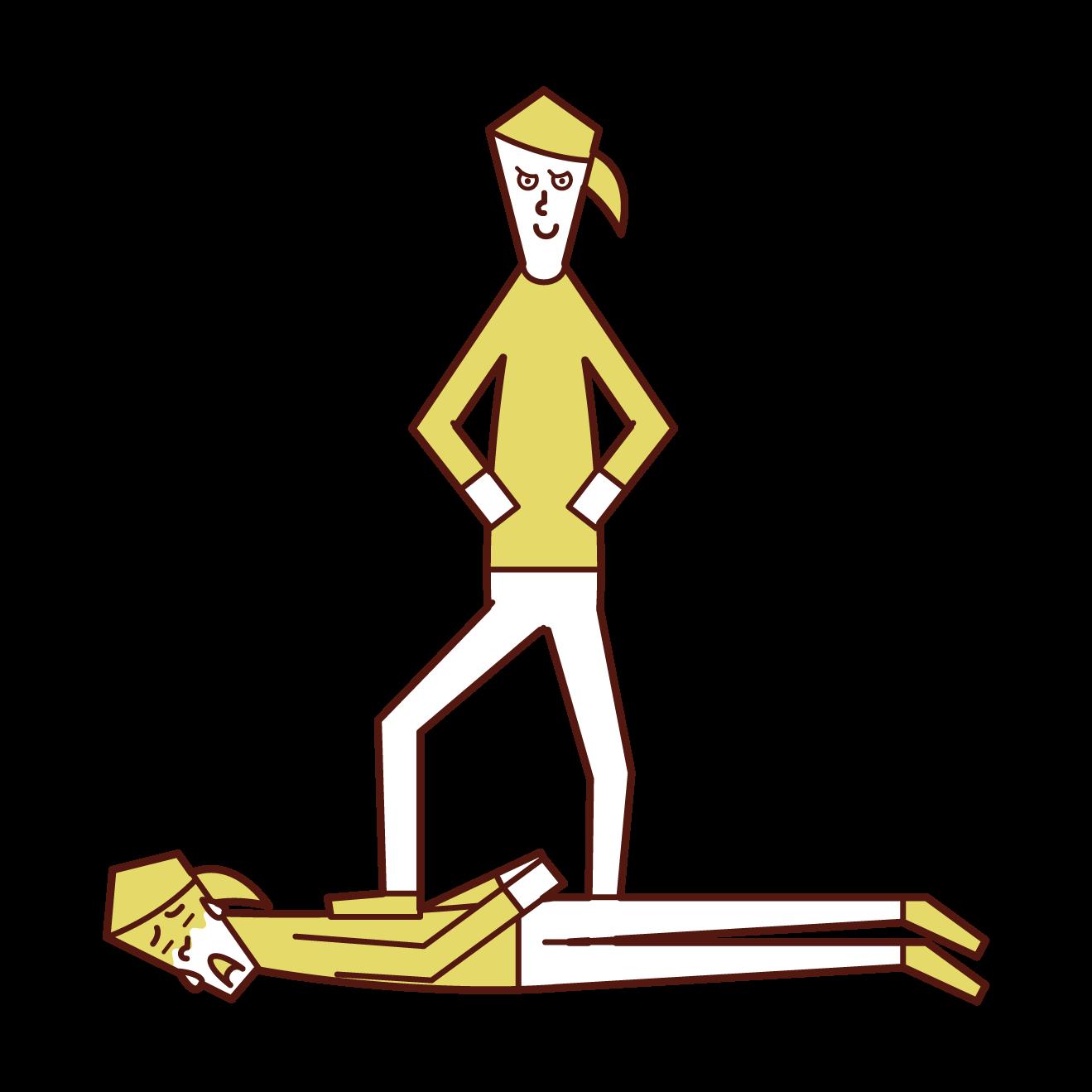 屈服的人(女性)的插圖