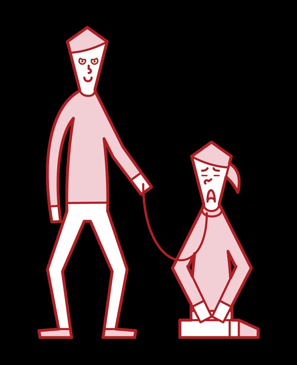 男人服從女人的插圖