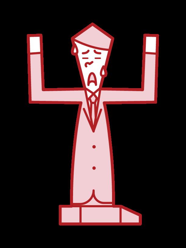 항복자(남성)의 일러스트