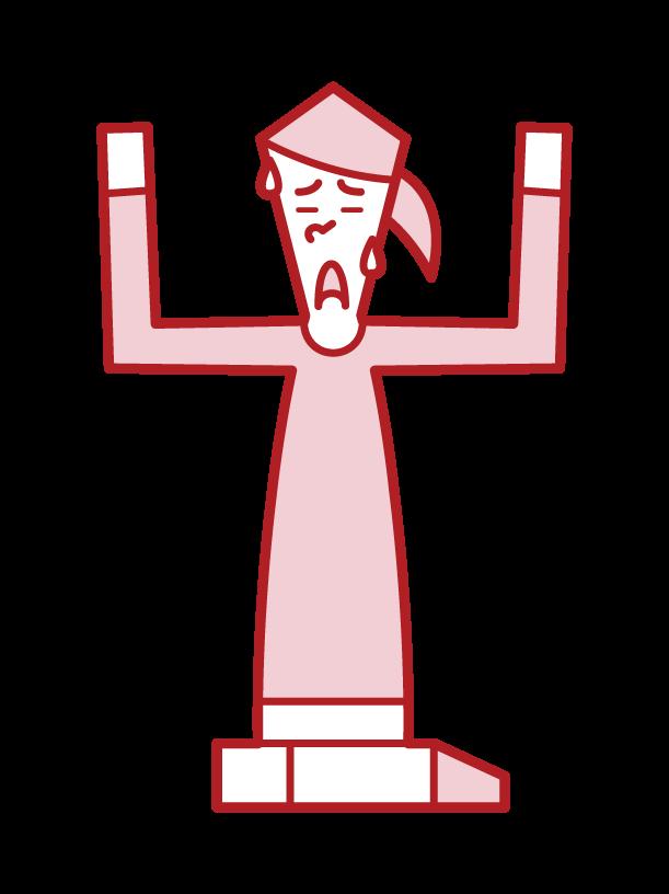 投降者(女性)的插圖