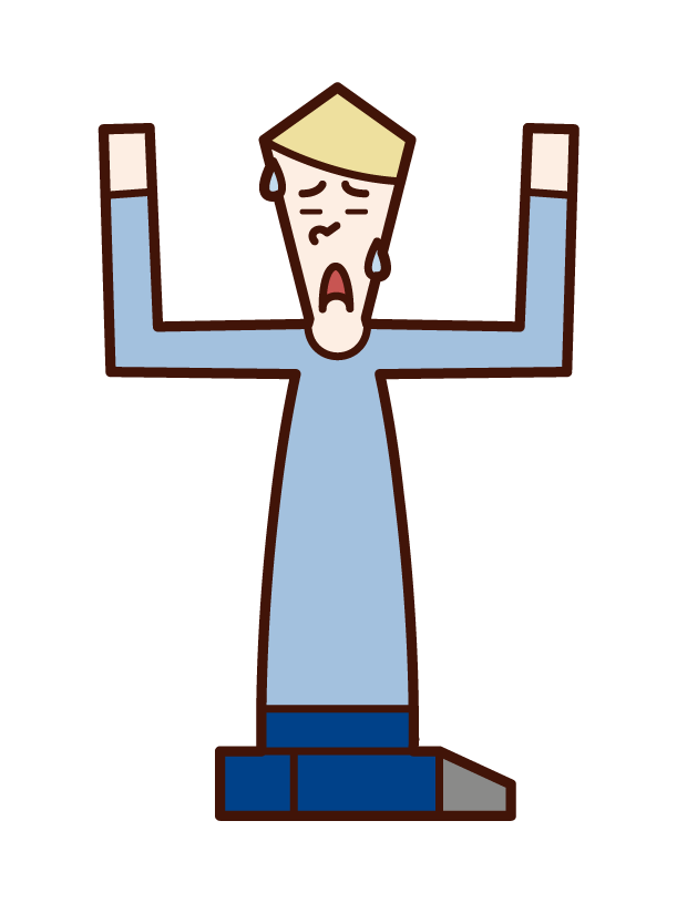 投降者(男性)的插圖