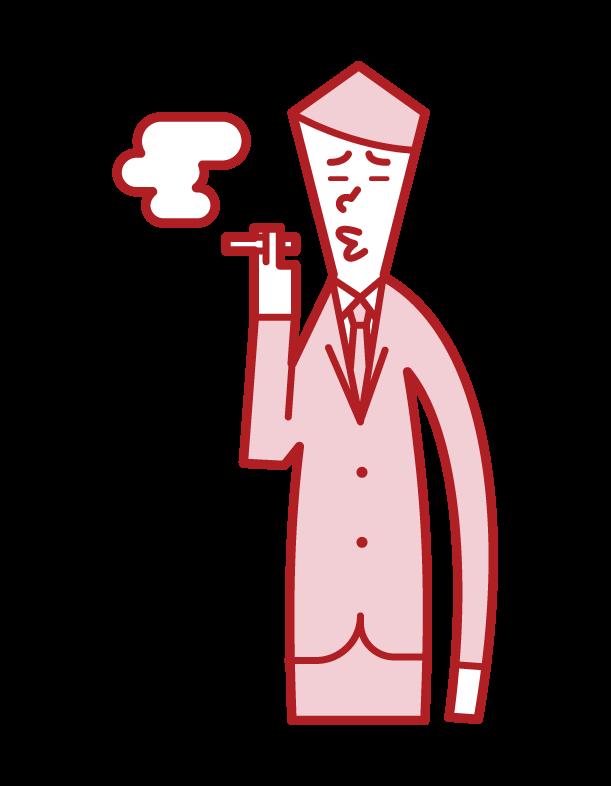 흡연자 (남성)의 그림