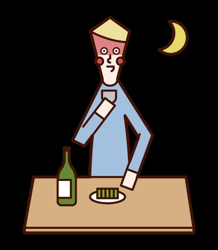 저녁 식사의 그림 (남성)