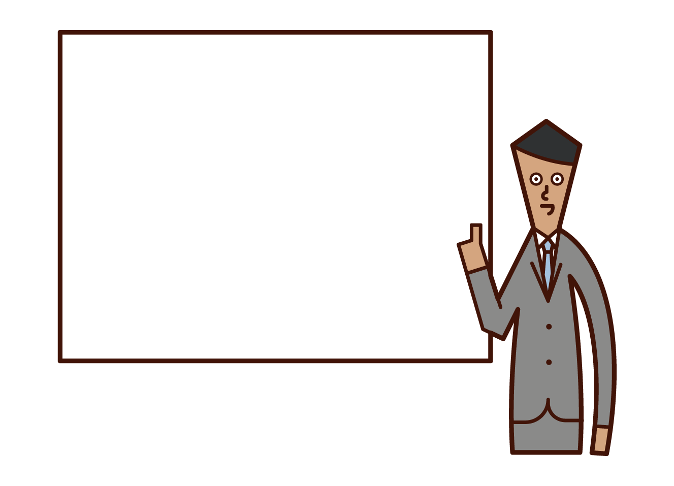 Illustrations of briefings and seminar lecturers (men)