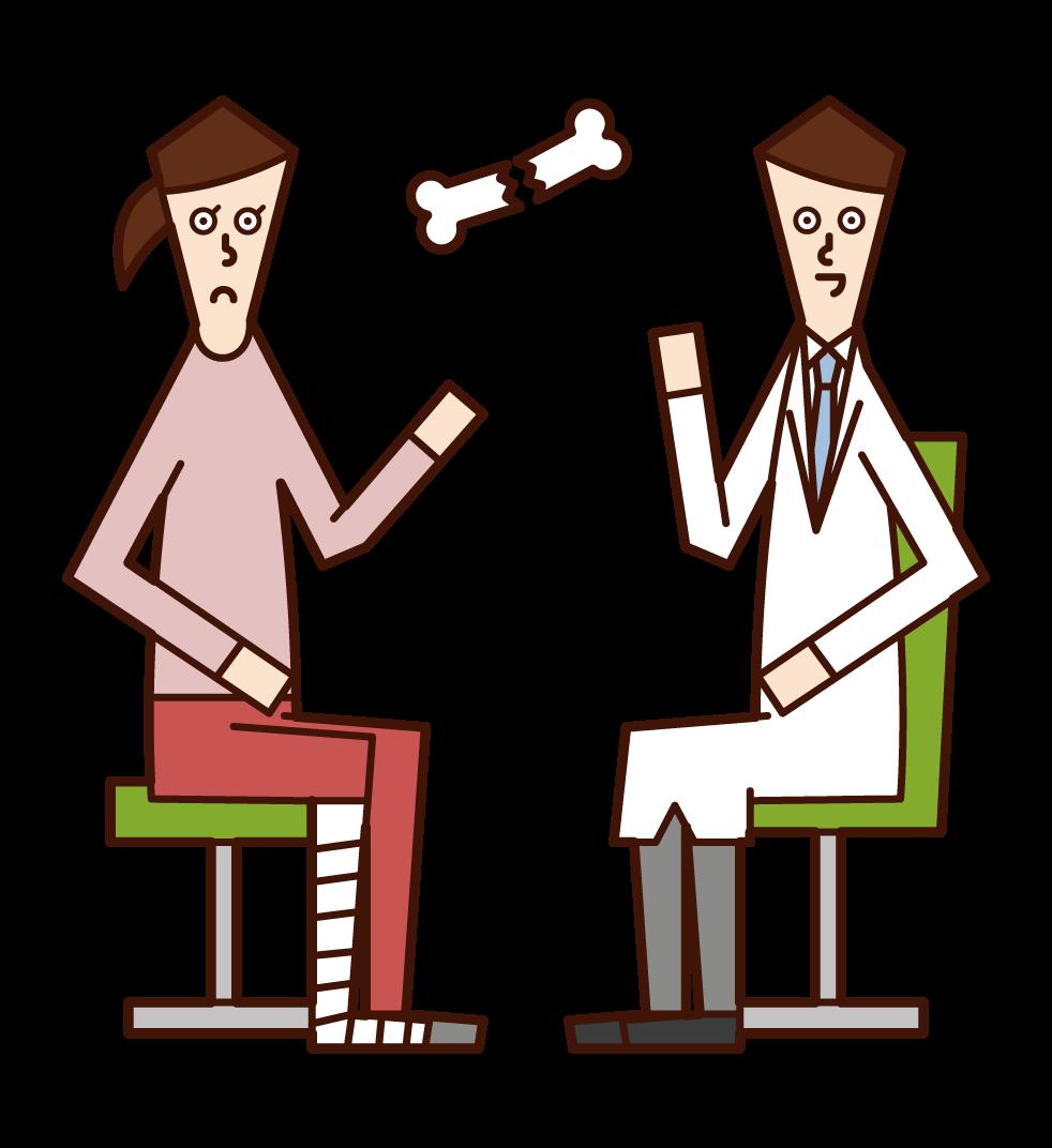 外科醫生(男性)的插圖